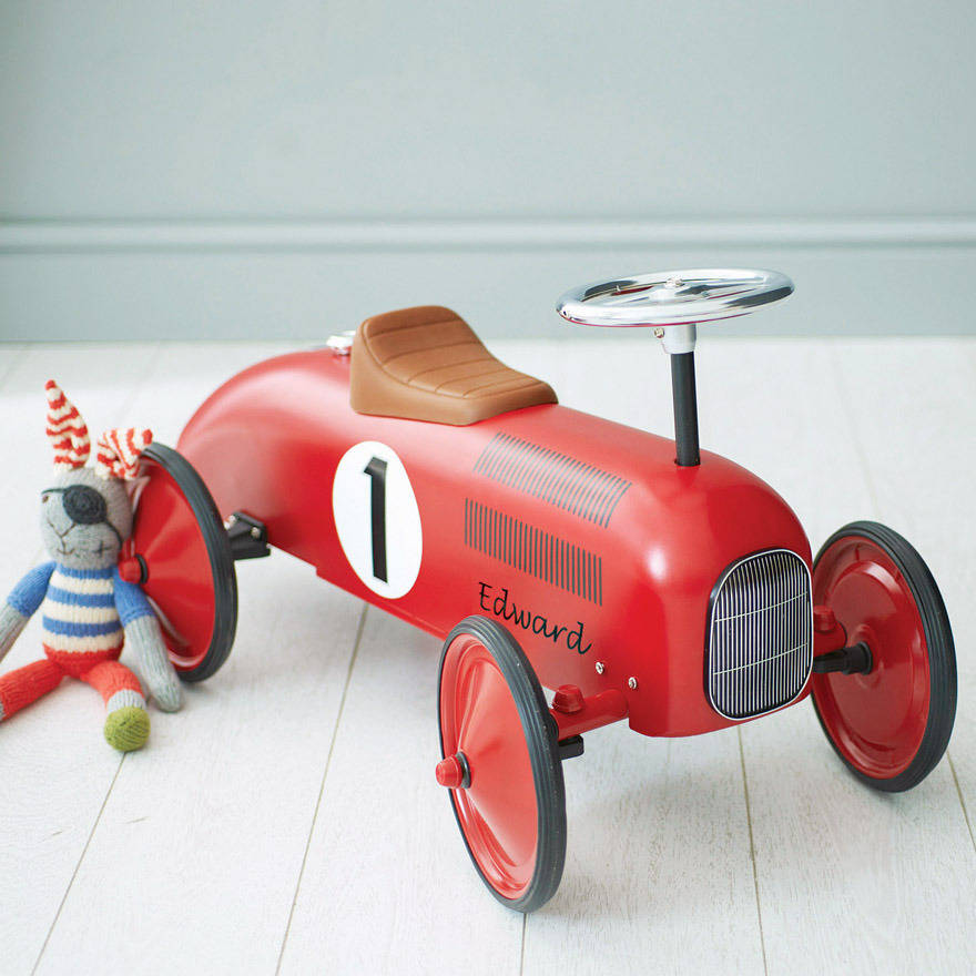 Wooden Racing Cars Kids Ride On
