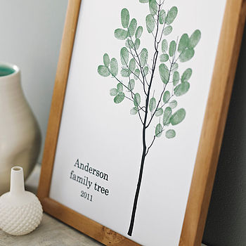 Personalised Family Thumbprint Tree Poster