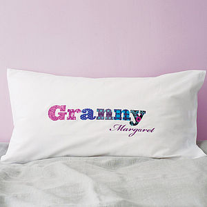 'Granny' Or 'Grandpa' Pillowcase - gifts for grandparents
