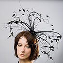 Sculptural Cockerel And Quill Fascinator