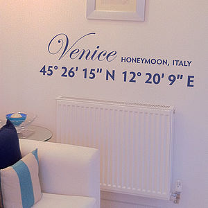 Coordinates Personalised Wall Sticker