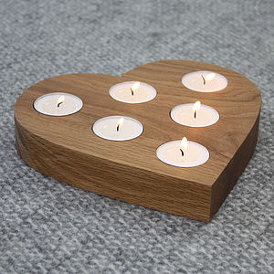 Centrepiece Heart Tea Light Holder - christmas home