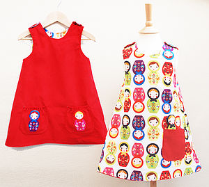 Girls Russian Doll Dress - clothing