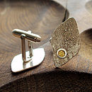 Silver And Gold Leaf Cufflinks
