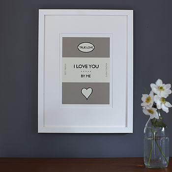 'I Love You By Me ' Framed Print