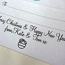 Christmas Personalised Gift Stickers