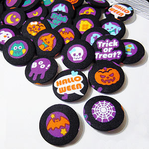 Halloween Fabric Badge Set - children's accessories