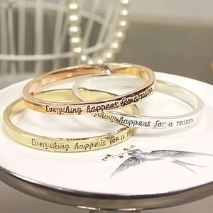 'Everything Happens' Word Bangle - bracelets & bangles