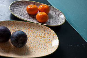 Oval Porcelain Plates - dining room