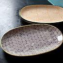 Oval Porcelain Plates