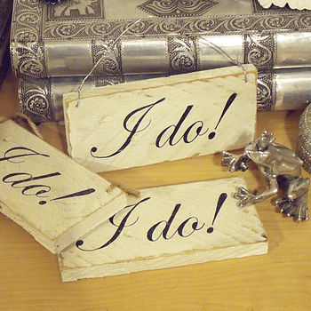 Miniature Personalised Wedding Sign