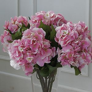 Vase Of Silk Hydrangeas - home accessories