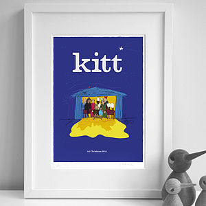 Personalised 'Nativity' Print