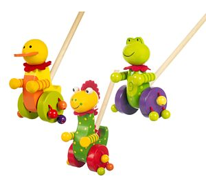 Push Along Animal Toys - traditional toys & games