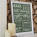 'Farty Towels' Typographic Print