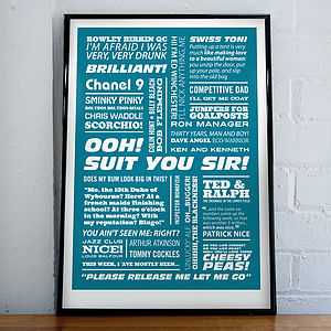 'Ooh! Suit You Sir!' Typographic Print - film & tv