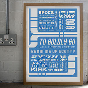 'To Boldly Go' Typographic Print - gifts for geeks