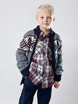 Boy's Long Sleeve Lucas Cardigan