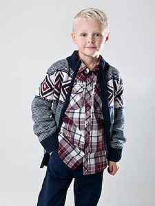 Boy's Long Sleeve Lucas Cardigan - view all sale items