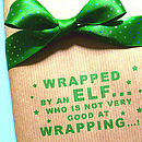 Handmade Clumsy Elf! Christmas Wrapping Paper
