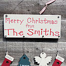 Personalised Family Christmas Sign