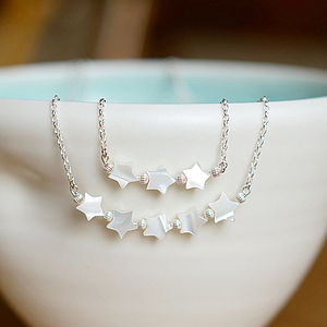 Silver & Mother Of Pearl Star Necklace - necklaces & pendants