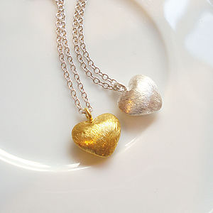 Brushed Heart Necklace - children's accessories