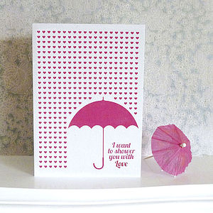 'Shower you with Love' Card - anniversary cards