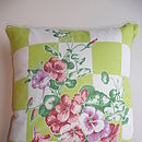 Vintage 50's Handkerchief Cushion