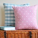 Pink Polka Dot Cushion