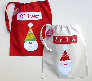 Personalised Child's Party Bags - stockings & sacks
