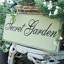 Secret Garden Personalised Vintage Style Sign