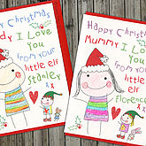 Colouring In Personalised Christmas Card - christmas