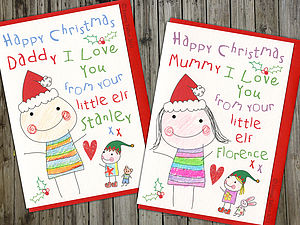 Colouring In Personalised Christmas Card - for mothers