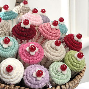 Baby Cupcake Pincushions And Silver Earrings - jewellery storage & trinket boxes