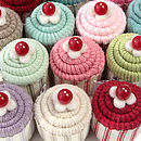 Baby Cupcake Pincushions And Silver Earrings