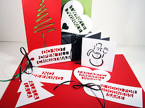 Big Fun Message Gift Tags - ribbon & wrap