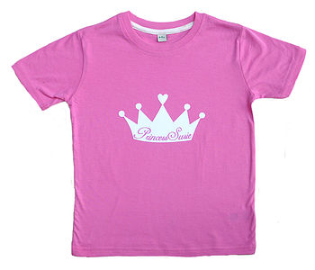 Girl's Personalised Princess T Shirt