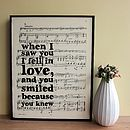 Love Quote Sheet Music Framed Print