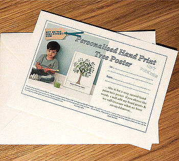 Personalised Hand Print Tree Voucher