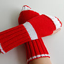 Long Rib Fingerless Gloves