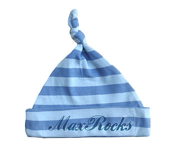 Personalised Boy's Stripe Hat
