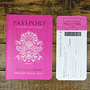 Passport To Love Booklet Style Invitation