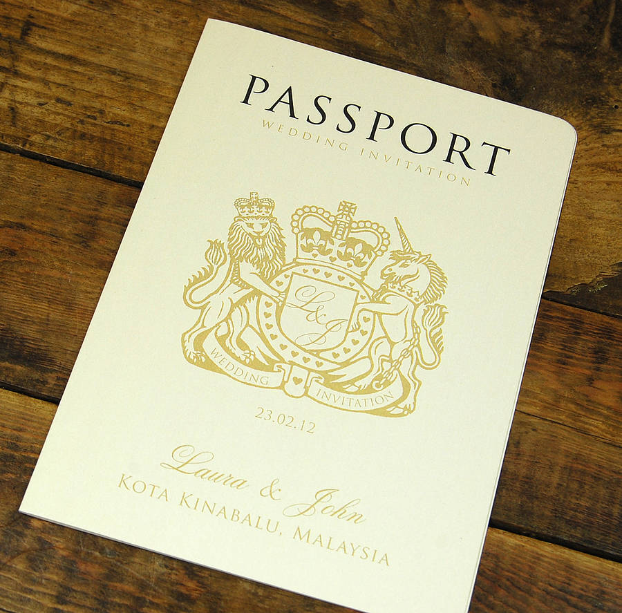 passport to love booklet travel wedding invitation by ditsy chic, Wedding invitations