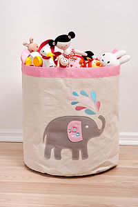 Elephant Storage Hamper - baby's room
