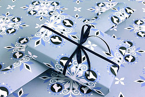 Snowflake Wrapping Paper - cards & wrap