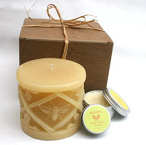 Honey Bee Skincare Candle Gift Box - lighting