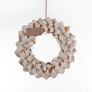 Mahogany Wreath - outdoor decorations