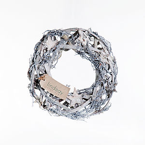 Silver Star Wreath - home accessories