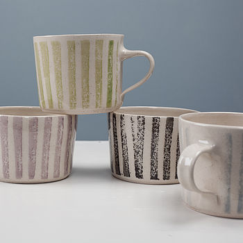 Roller Stripe Squat Mug Collection
